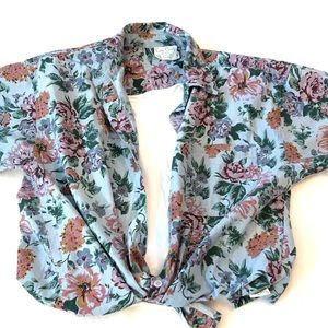 Vintage Pierre Cardin Floral Button Down Shirt, M